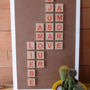 Quadro com alfabeto infantil – Faça você mesmo