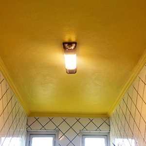 Como decorar o banheiro – Teto Colorido