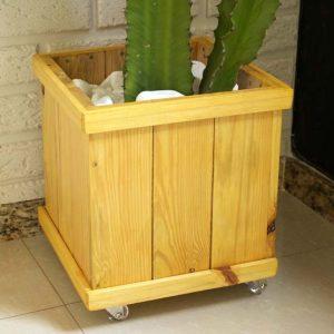 Como fazer um cachepô de madeira