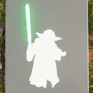 Quadro Iluminado Star Wars DIY
