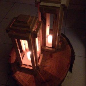 Como fazer lanterna rústica de chão
