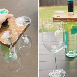 Suporte para taças e vinho DIY