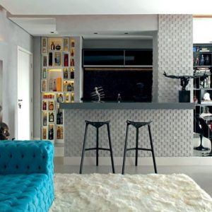 Inspiração: apartamento de um jovem médico.