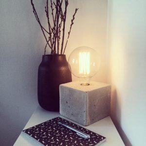 Como fazer luminária de concreto