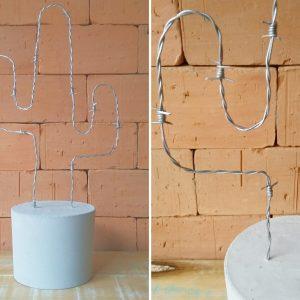 Como fazer cacto decorativo com arame farpado