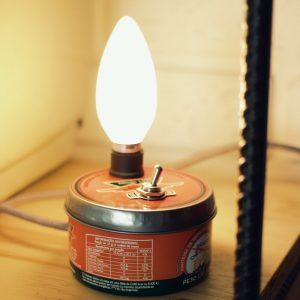 Como fazer uma luminaria com latinha de manteiga