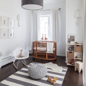 9 Dicas e inspirações para uma decoração cool de quartos de bebês.