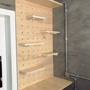 Reforma da Cozinha – Como fazer uma estante Pegboard