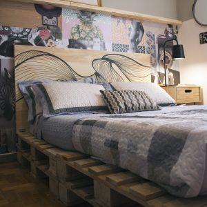 Como fazer cama da Pallet para quarto pequeno