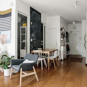 Apartamento pequeno decorado de 55m quadrados em Vancouver