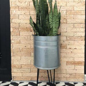 Vaso de planta – estilo rústico e industrial – DIY